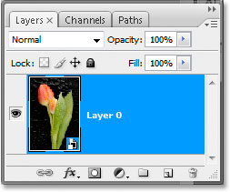 Layer converted into a smart object
