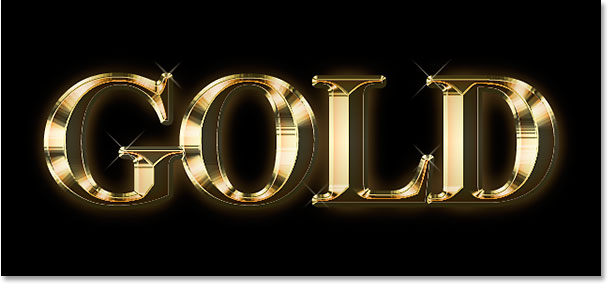 Hackerzcity: Photoshop Text Effects: Gold Plated Text