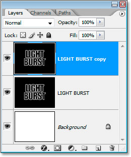 Photoshop Text Effects: Copy the text layer