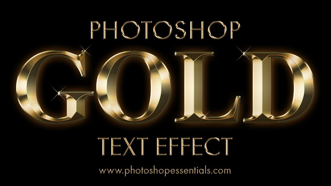 Gold Plated Text Effect In shop