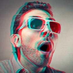 Photoshop Retro 3D Movie Effect Tutorial