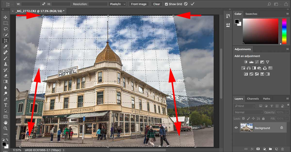 Using The Perspective Crop Tool In Photoshop