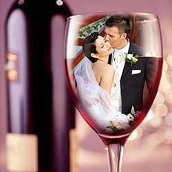 Wedding Couple in Wine Glass - Photoshop Tutorial