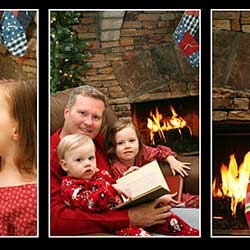 Three Image Photo Frame Template With Smart Objects In Photoshop