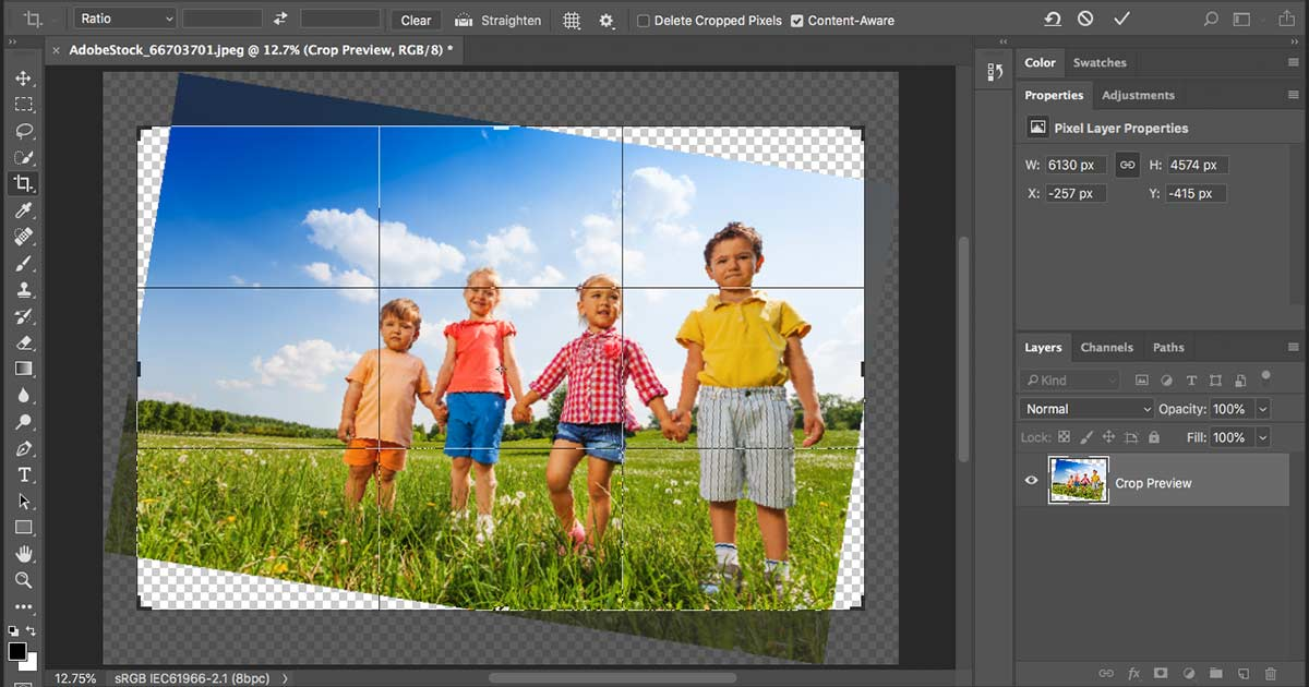 How to use Content-Aware Crop in Photoshop CC