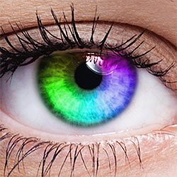 Photoshop Rainbow Colored Eyes Effect