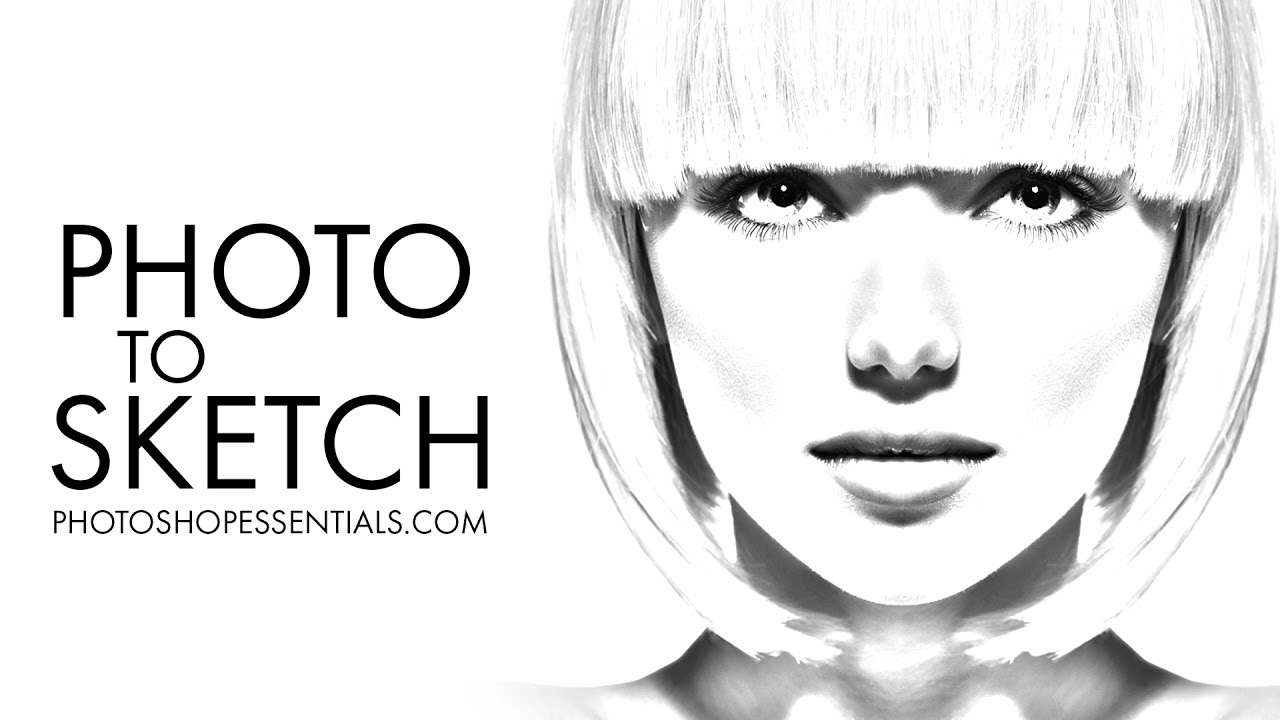 Photo to pencil sketch effect in photoshop cc tutorial for Convert photo to coloring page photoshop