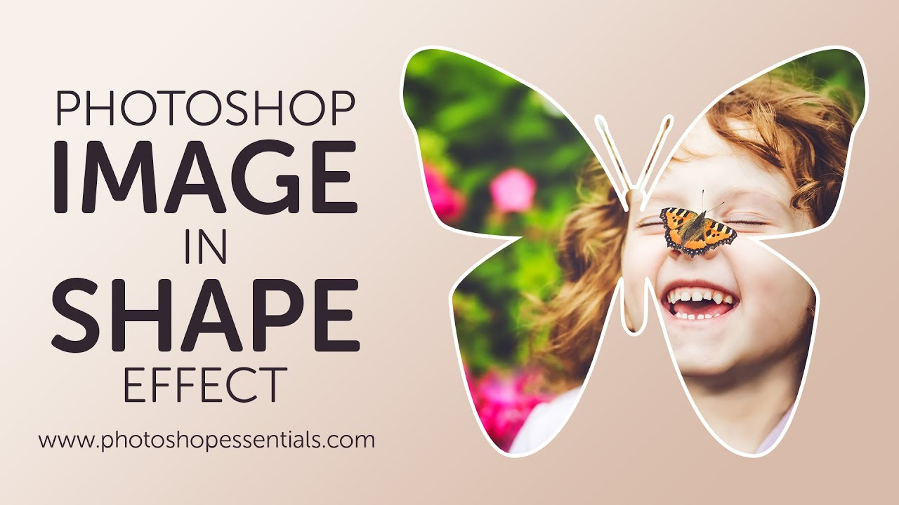 how to add a photo into a shape in photoshop