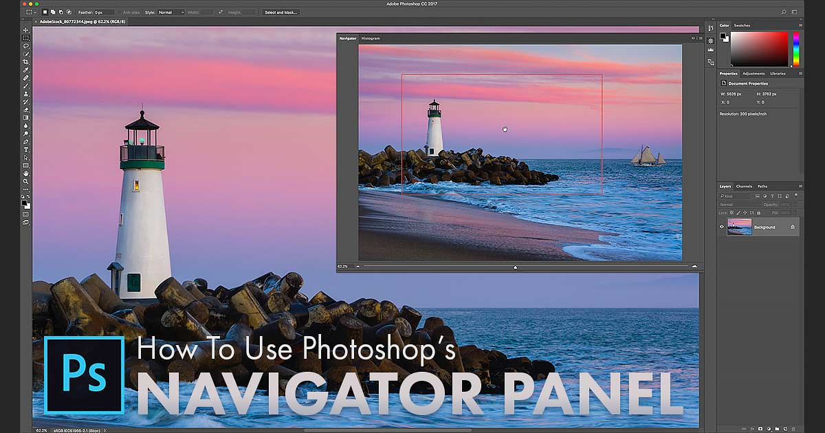 How to use the Navigator Panel in Photoshop