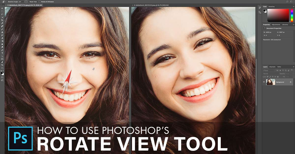 The Rotate View Tool In Photoshop - Rotating The Canvas