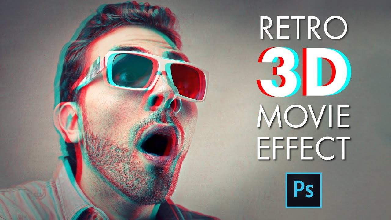 Photoshop photo effects tutorials how to create a retro 3d movie effect in photoshop baditri Choice Image