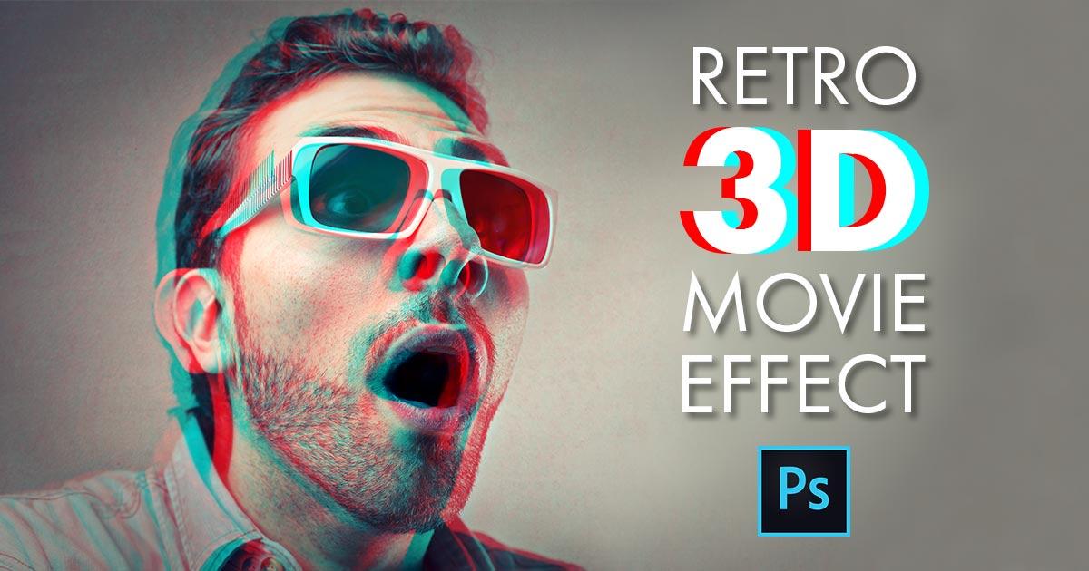 D Glasses Effect Illustrator