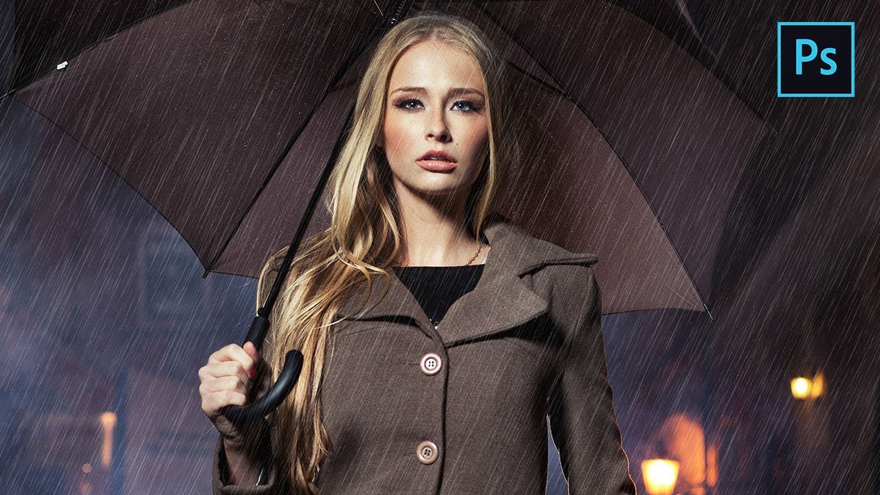 Photoshop photo effects tutorials photoshop rain effect how to add rain to a photo baditri Gallery