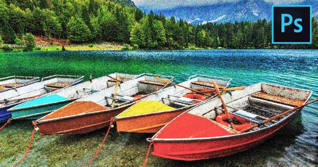 Photoshop Pointillism Painting Effect
