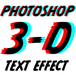 Create a retro red and blue 3d analyph text effect in Photoshop